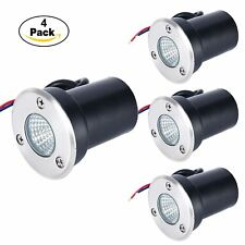 4 PACK LED Low Voltage In Ground Outdoor Landscape Yard Garden Patio Well Light