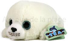Peluche bébé phoque 21 cm très douce au touché, doudous pas cher, jouet, neuf