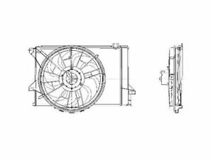 For 1992-1993 Ford Tempo Auxiliary Fan Assembly 83131TF 2.3L 4 Cyl