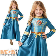 Sequin Merida Girls Fancy Dress Brave Disney Princess Fairy Tale Kids Costume