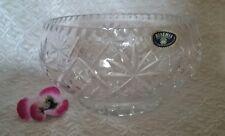 Bohemia Czechoslovakia Sheffield 24% lead crystal fruit bowl vintage hand cut