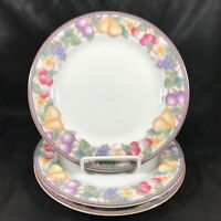 "Set of 3 American Atelier 8"" Fruit n Flowers Bread Plates"