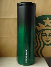 Starbucks Tumbler Thermobecher Edelstahl Ombre grün-schwarz Schriftzug 16oz NEU