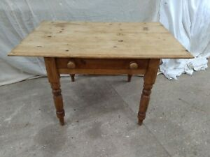 Antique Farmhouse Pine Table  Country Kitchen Scrubed Top