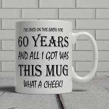 60th birthday mug funny cheeky gift  idea mum dad mother father happy 60