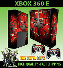 XBOX 360 E SPIDERMAN CHEST LOGO SUPERHERO STICKER SKIN & 2 PAD SKIN