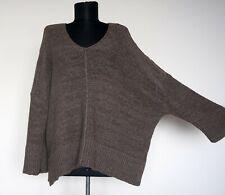 OSKA Brown/Grey Melange Lagenlook Knitted Sweater/Jumper, Size:3