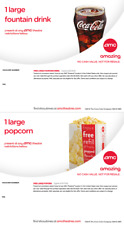 AMC Large Popcorn & Large Fountain Drink exp 12/20 Instant Delivery Email 24hrs