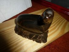 """Genuine Iron Wood hand carved """"Sea Lion-Seal"""" Sculpture ! Must See!"""