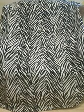 "Black White Zebra Animal Print Lightweight Fleece Blanket 64"" × 57"""