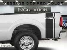 Ford F-150 Vinyl Decals Plain Rear Bed racing stripes both sides rally FX4 sport