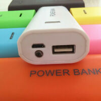 5600mAh 2X 18650 USB Power Bank Battery Charger Case DIY Box For iPhone - UK
