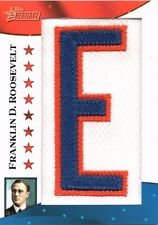 2009 Topps Heritage Franklin D. Roosevelt Presidential Patch 17/50!