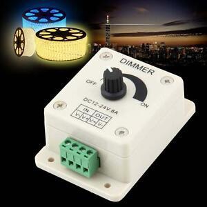 LED Dimmer Brightness Adjustable Switch for Single Color 3528/5050/5630 12/24V8A