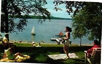 Vintage Postcard - Swimming Bikini Lake Wallenpaupack Pennsylvania PA #3342
