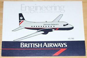 British Airways (UK) Hawker-Siddeley HS-748 Engineering Airline Sticker