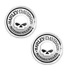 2 x Domed Stickers Decals Auto Moto Harley Skull Motorcycle Race Helmet KS 115