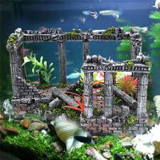 Ancient Roman Castle Ruins Aquarium Fish Tank Decoration Home Resin Ornament