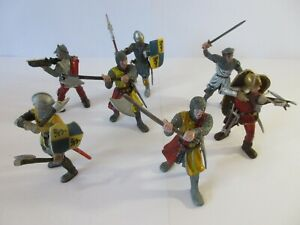 SCHLEICH Toy Action Figures MEDIEVAL KNIGHTS MEN-AT-ARMS & CROSS-BOWMEN