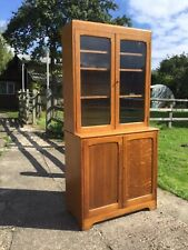 Used solid oak bookcase/display cabinet. Collection only Coventry area