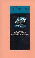 Carolina Panthers @ Jacksonville Jaguars 1996 NFL ticket stub Topps Mark Brunell