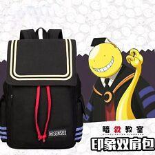 Kyoushitsu Assassination Classroom Canvas School Bag Shoulder Bag Backpack Black