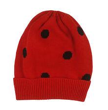 Gap Baby Girls Beanie Hat Ladybird Polka Dot Red 0-6 Months