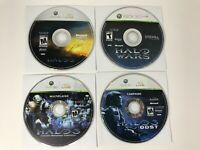 Xbox 360 Halo 3 Halo Wars Halo 3 ODST - CD only Lot of 4 - tested