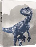 Jurassic World: Fallen Kingdom 4K UHD + Blu Ray Limited Edition Steelbook