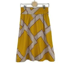 Anthropologie Barila Mid Century Modern Mustard Yellow Retro A Line Skirt Small
