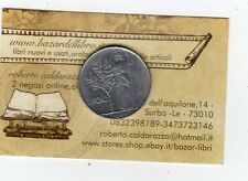 repubblica moneta 100 lire 1965 acmonital diametro 27,8 mm.