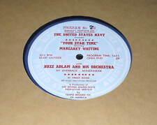 "16"" RADIO TRANSCRIPTION RECORD U.S. Navy with MARGARET WHITING / CURT MASSEY"
