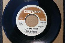 "7"" Cat Stevens - A Bad Night - US DERAM Promo"