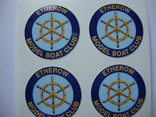16  ETHEROW MODEL BOAT CLUB STICKERS  1""
