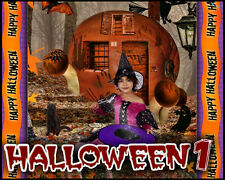 H1 Halloween Backdrops Digital Backgrounds Frames Template Ghost Fall Holiday