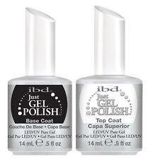 IBD Soak off Just Gel Polish LED UV Nails. Set of Base Coat & Top Coat