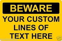 Beware Sign Custom Design Rigid Plastic Board 20x30cm