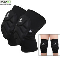 Knee Pads Skateboard Bicycle Bike Skate Scooter Cycling Black Protective Gear