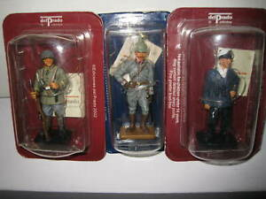 3 x DEL PRADO MEN AT WAR SOLDIER FIGURINE WW1 GERMANY GERMAN SOLDIERS  U BOAT
