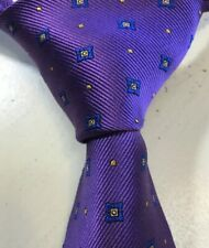 Recent ROBERT TALBOTT Elegant Purple 100% Silk USA Necktie