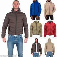 Brave Soul Mens Hooded Stylish Padded Zipped Casual Winter Jacket Size S M L XL
