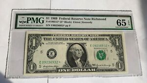 one dollar star note*** 1969 Federal Reserve Note Richmond Certifique US