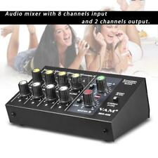 ammoon AM-228 Ultra-compact Low Noise 8 Channel Audio Sound Mixer R1O7