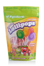 XyloBurst Sugar Free Lollipops with Xylitol - Assorted Flavors 50 Count