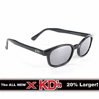X-KD's Black Frame Silver Mirror Lens Sunglasses XKD Motorcycle Riding Glasses