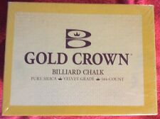 GOLD CROWN BILLIARD CHALK BLUE 8 BALL 144 COUNT PURE SILICA VELVET BRUNSWICK