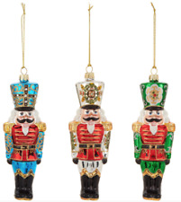 SET OF 3 David Dangle Home Collection Hand painted Nutcracker Ornaments NEW