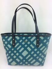New COACH F22246 Mini City Zip Tote Handbag Bag Purse Blue Multi PVC
