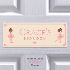 Personalised Door Sign Ballerina Child Bedroom Name Plaque Gift Girls Room