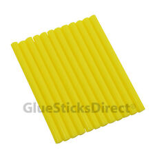 "GlueSticksDirect Yellow Colored Glue Sticks mini X 4"" 12 sticks"